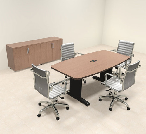 Modern Boat Shaped Feet Conference Table MTCSDC HO Furniture - 6 foot conference table