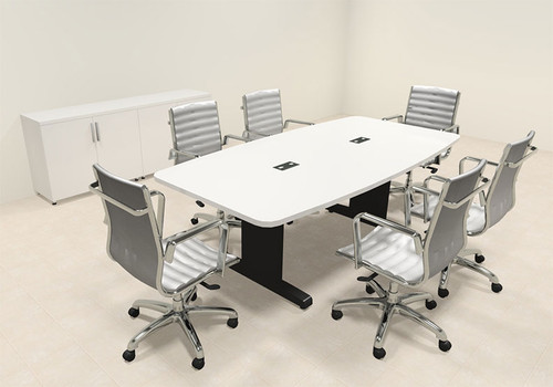 Modern Boat Shaped 7' Feet Conference Table, #MT-CSD-C25