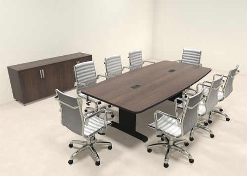 Modern Boat Shaped 8' Feet Conference Table, #MT-CSD-C47