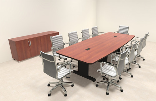 Modern Boat Shaped 10' Feet Conference Table, #MT-CSD-C82
