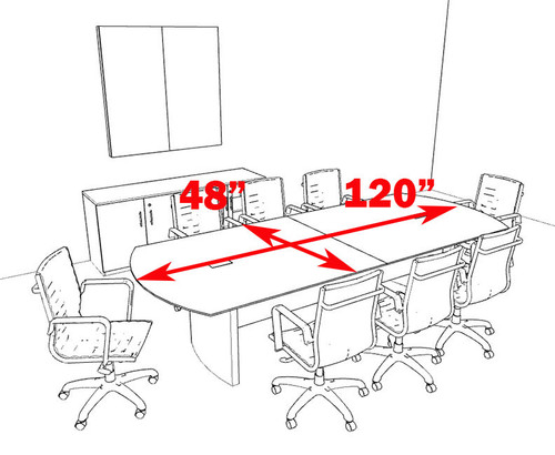 Modern Contemporary 10' Feet Conference Table, #MT-MED-C10