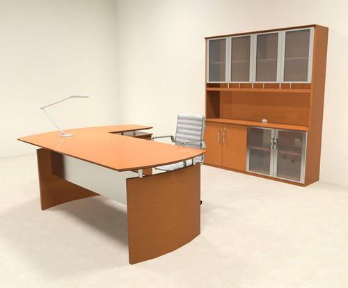 4pc Modern Contemporary L Shape Executive Office Desk Set, #RO-NAP-L10