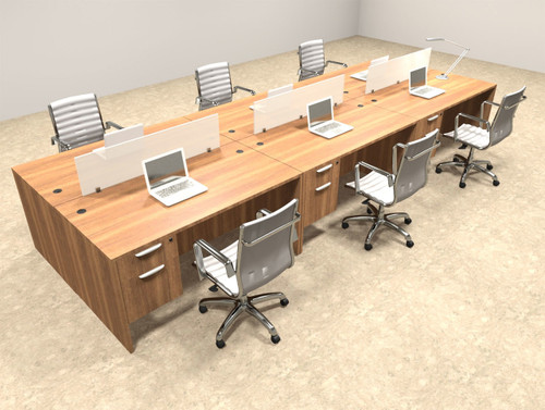 Six Person Modern Divider Office Workstation Desk Set, #OT-SUL-FP21