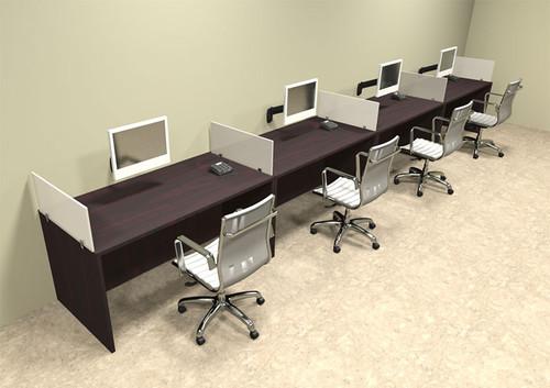 Four Person Divider Modern Office Workstation Desk Set, #OT-SUL-SP11