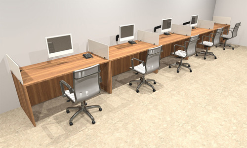 Five Person Divider Modern Office Workstation Desk Set, #OT-SUL-SP13