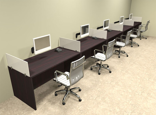 Five Person Divider Modern Office Workstation Desk Set, #OT-SUL-SP15