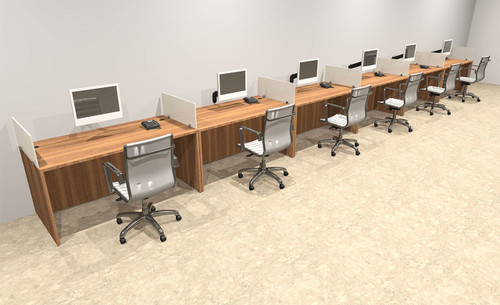 Six Person Divider Modern Office Workstation Desk Set, #OT-SUL-SP17