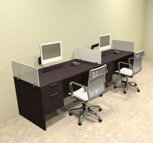 Two Person Divider Modern Office Workstation Desk Set, #OT-SUL-SP23