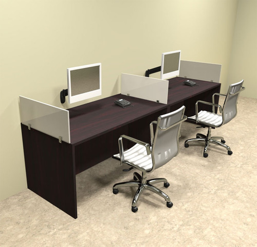 Two Person Divider Modern Office Workstation Desk Set, #OT-SUL-SP3