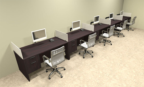 Five Person Divider Modern Office Workstation Desk Set, #OT-SUL-SP35