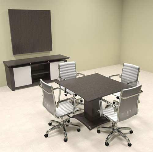 "Modern Contemporary 42"" Square Conference Table, #MT-STE-C3"