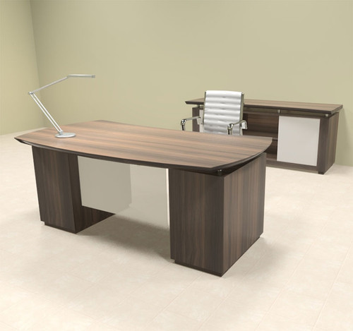 4pc Modern Contemporary Executive Office Desk Set, #MT-STE-D5