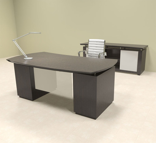 4pc Modern Contemporary Executive Office Desk Set, #MT-STE-D6