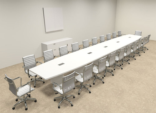 Modern Boat Shaped 24' Feet Conference Table, #OF-CON-C129