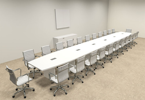Modern Boat Shaped 26' Feet Conference Table, #OF-CON-C130