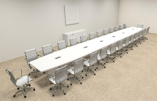 Modern Boat Shaped 28' Feet Conference Table, #OF-CON-C131