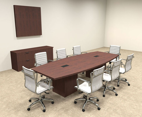Modern Boat Shaped Cube Leg 10' Feet Conference Table, #OF-CON-CQ20