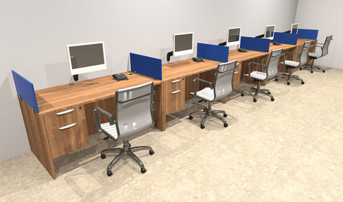 Five Person Blue Divider Office Workstation Desk Set, #OT-SUL-SPB33