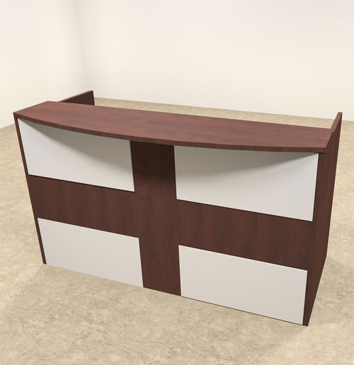 2pc Rectangular Modern Acrylic Panel Office Reception Desk, #OT-SUL-R14