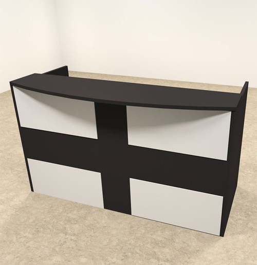 2pc Rectangular Modern Acrylic Panel Office Reception Desk, #OT-SUL-R16