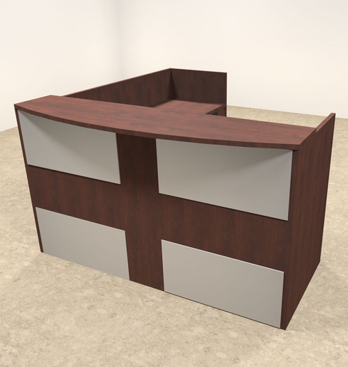 3pc L Shaped Modern Acrylic Panel Office Reception Desk, #OT-SUL-R22