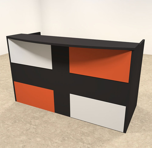 2pc Rectangular Modern Acrylic Panel Office Reception Desk, #OT-SUL-RM40