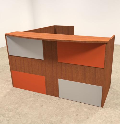 3pc L Shaped Modern Acrylic Panel Office Reception Desk, #OT-SUL-RM45