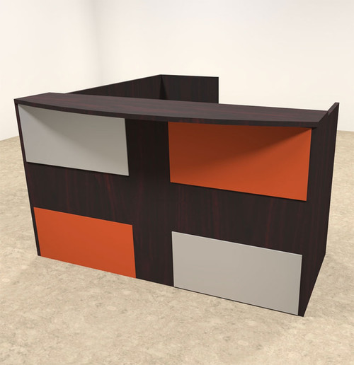 3pc L Shaped Modern Acrylic Panel Office Reception Desk, #OT-SUL-RM47