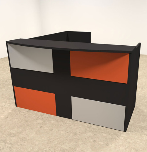 3pc L Shaped Modern Acrylic Panel Office Reception Desk, #OT-SUL-RM48