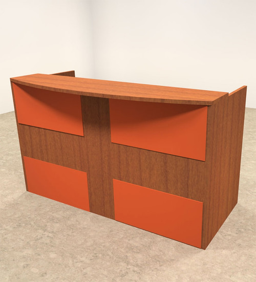 2pc Rectangular Modern Acrylic Panel Office Reception Desk, #OT-SUL-RO25