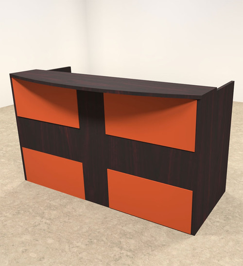 2pc Rectangular Modern Acrylic Panel Office Reception Desk, #OT-SUL-RO27