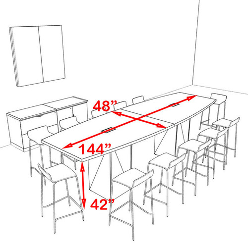 Conference Table Height Interior Design D - Conference table measurements