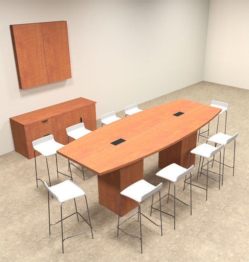 Boat Shape Counter Height Feet Conference Table OFCONCT - Counter height conference table