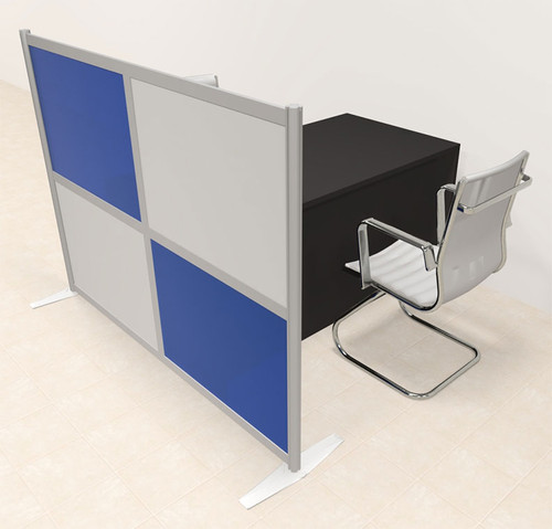 One Person Workstation w/Acrylic Aluminum Privacy Panel, #OT-SUL-HPB16