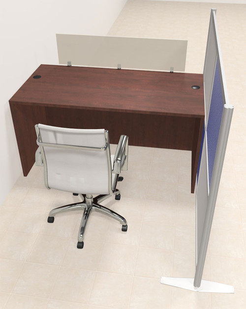 One Person Workstation w/Acrylic Aluminum Privacy Panel, #OT-SUL-HPB2