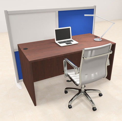 One Person Workstation w/Acrylic Aluminum Privacy Panel, #OT-SUL-HPB26