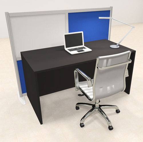 One Person Workstation w/Acrylic Aluminum Privacy Panel, #OT-SUL-HPB28