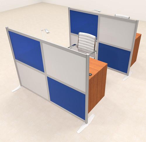 Two Person Workstation w/Acrylic Aluminum Privacy Panel, #OT-SUL-HPB29