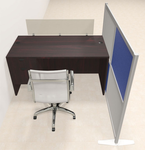 One Person Workstation w/Acrylic Aluminum Privacy Panel, #OT-SUL-HPB39