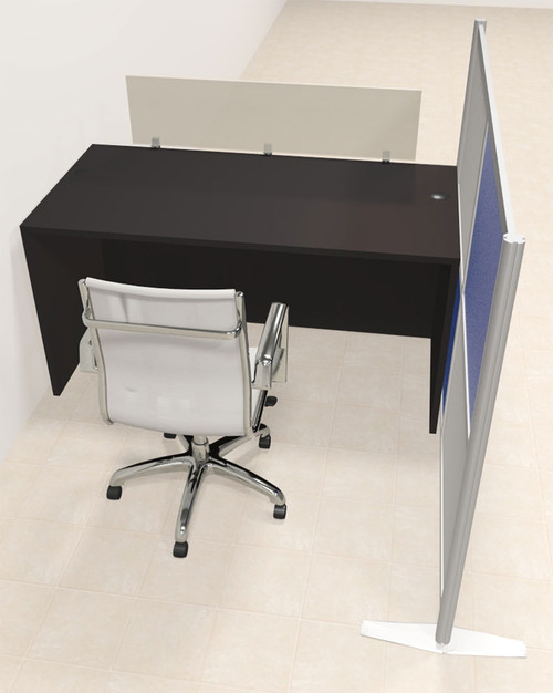 One Person Workstation w/Acrylic Aluminum Privacy Panel, #OT-SUL-HPB4