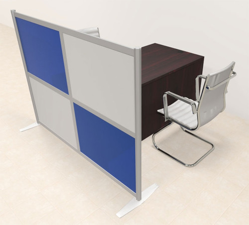 One Person Workstation w/Acrylic Aluminum Privacy Panel, #OT-SUL-HPB51