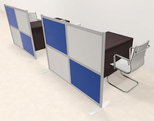 Two Person Workstation w/Acrylic Aluminum Privacy Panel, #OT-SUL-HPB55