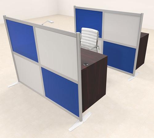 Two Person Workstation w/Acrylic Aluminum Privacy Panel, #OT-SUL-HPB67