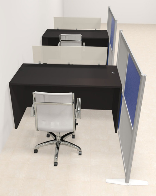 Two Person Workstation w/Acrylic Aluminum Privacy Panel, #OT-SUL-HPB8