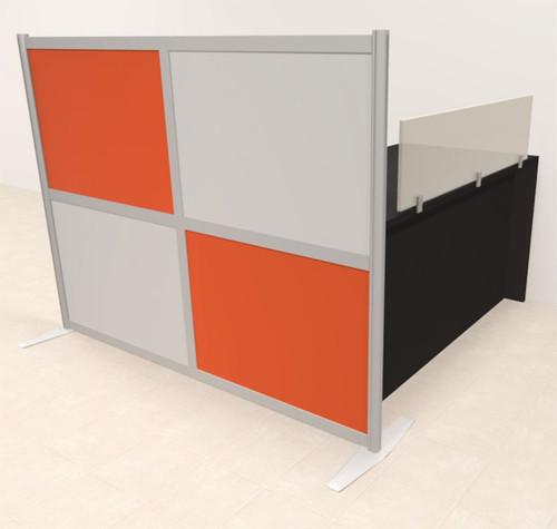 One Person Workstation w/Acrylic Aluminum Privacy Panel, #OT-SUL-HPO112