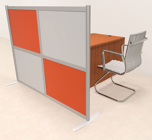 One Person Workstation w/Acrylic Aluminum Privacy Panel, #OT-SUL-HPO121