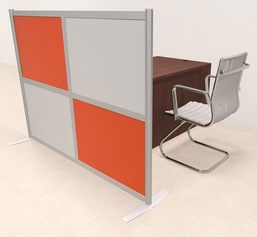 One Person Workstation w/Acrylic Aluminum Privacy Panel, #OT-SUL-HPO122