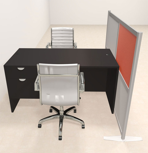 One Person Workstation w/Acrylic Aluminum Privacy Panel, #OT-SUL-HPO124
