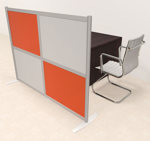 One Person Workstation w/Acrylic Aluminum Privacy Panel, #OT-SUL-HPO87