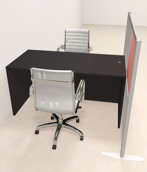 One Person Workstation w/Acrylic Aluminum Privacy Panel, #OT-SUL-HPO88